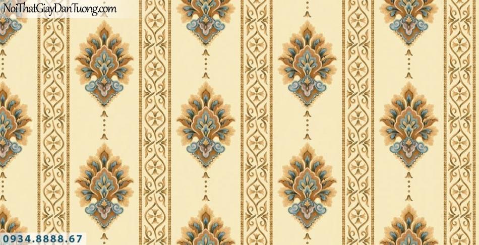 URANUS | Giấy dán tường kẻ sọc to màu vàng, sọc bản lớn, sọc nhỏ, sọc thẳng | Giấy dán tường Uranus 13006-8