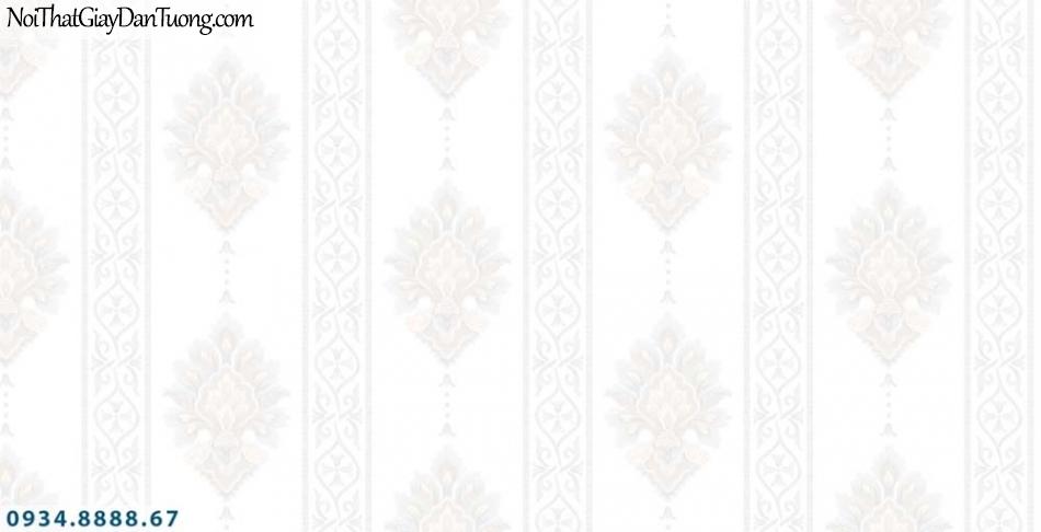 URANUS | Giấy dán tường màu trắng, hoa văn cổ điển, phong cách Châu Âu | Giấy dán tường Uranus 13006-10