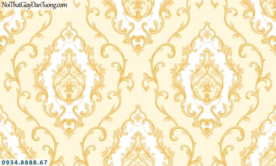 URANUS | Giấy dán tường màu vàng, họa tiết cổ điển Châu Âu | Giấy dán tường Uranus 13003-1