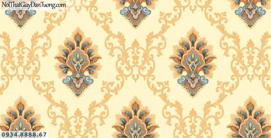 URANUS | Giấy dán tường màu vàng, hoa văn hoa tiết cổ điển Châu Âu | Giấy dán tường Uranus 13002-8