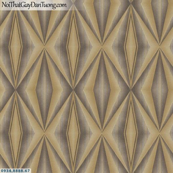 URANUS |Giấy dán tường 3D màu vàng, vàng đồng, họa tiết ca rô, kẻ sọc ngang nhỏ ngắn| Giấy dán tường Uranus 52008-4