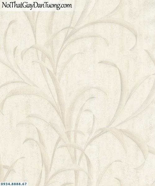 URANUS | Giấy dán tường cành lá 3D màu xám, trắng xám, lá nhỏ dài| Giấy dán tường Uranus 152009-1