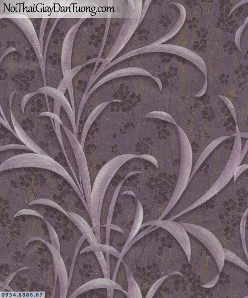 URANUS | Giấy dán tường hình lá cây 3D màu nâu, giấy hình chiếc lá dài | Giấy dán tường Uranus 52009-4
