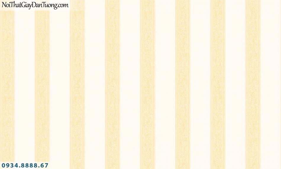 URANUS | Giấy dán tường kẻ sọc màu vàng kem, giấy sọc đều, sọc thẳng | Giấy dán tường Uranus 52036-2