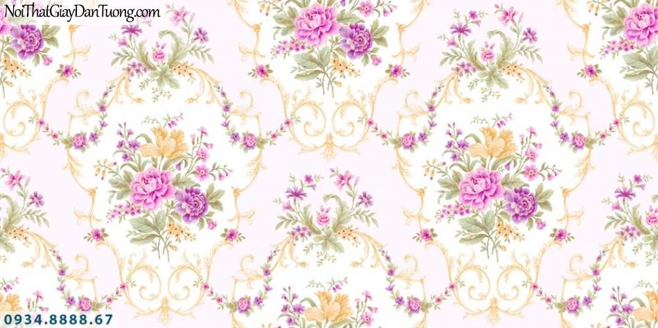 URANUS | Giấy dán tường màu hồng, hoa văn cổ điển đẹp lãng mạng sang trọng | Giấy dán tường Uranus 52012-4
