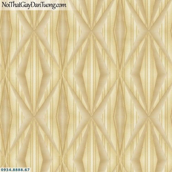 URANUS | Giấy dán tường màu vàng kiểu ca rô họa tiết kẻ sọc ngang nhỏ ngắn | Giấy dán tường Uranus 52008-1