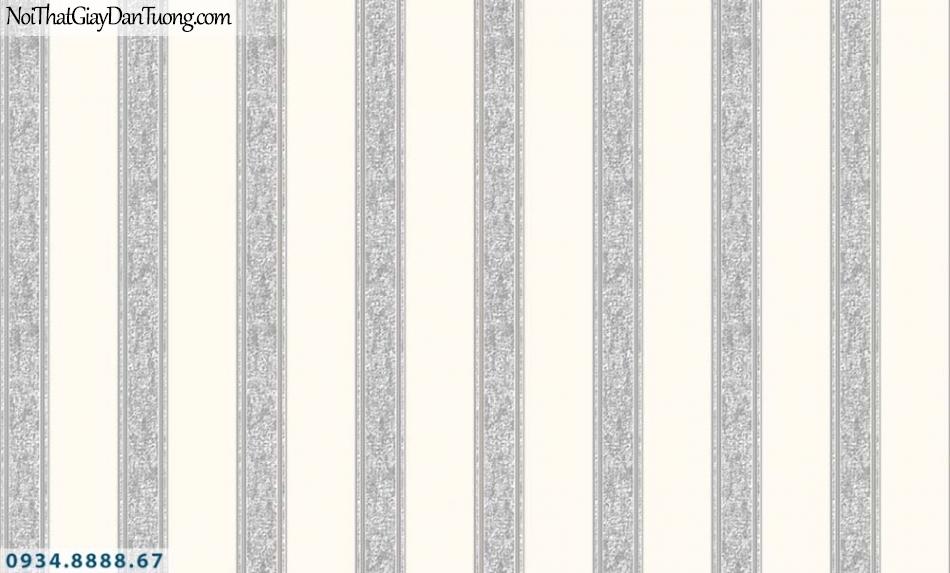 URANUS | Giấy dán tường sọc đen trắng, sọc đều màu kem và màu xám, kẻ sọc thẳng màu trắng đen | Giấy dán tường Uranus 52036-1