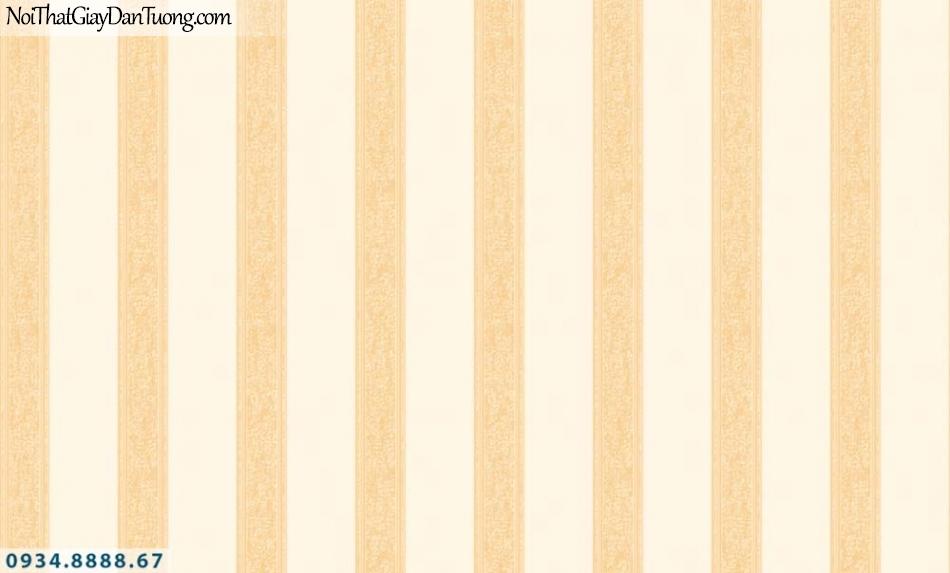 URANUS | Giấy dán tường sọc màu vàng, kẻ sọc đều thẳng đứng, tạo cảm giác tường cao hơn | Giấy dán tường Uranus 52036-3