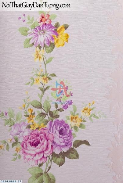 URANUS | Giấy dán tường bông hoa leo, dây leo tường thẳng dọc, màu hồng | Giấy dán tường Uranus 52043-2