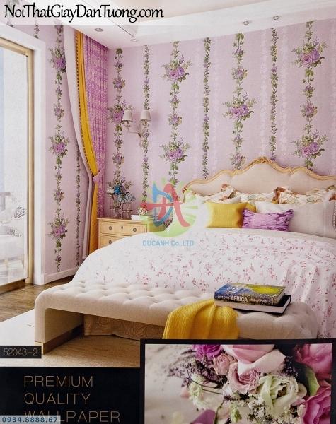 URANUS | Giấy dán tường dây hoa màu hồng đẹp, phòng ngủ lãng mạn | Giấy dán tường Uranus 52043-2