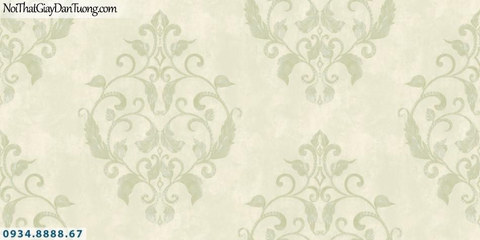 GRAVENTO | Giấy dán tường cổ điển màu vàng chanh, màu xanh nõn chuối | Giấy dán tường Gravento PM345801