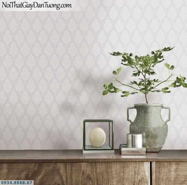 GRAVENTO | Giấy dán tường hoa văn cổ điển màu xám, họa tiết xéo ca rô | Giấy dán tường Gravento GD345742