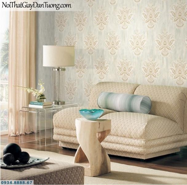 GRAVENTO | Giấy dán tường màu kem, cổ điển đẹp sang trọng, phù hợp cả phòng ngủ lẫn phòng khách | Giấy dán tường Gravento TL345551