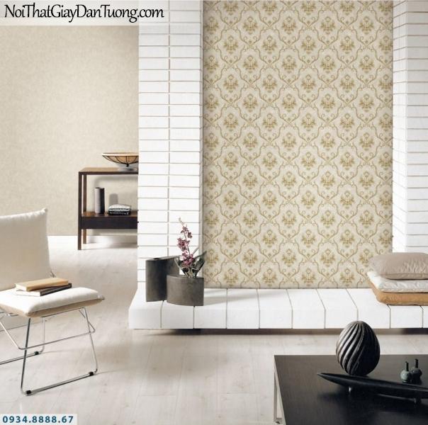 GRAVENTO | Giấy dán tường màu vàng kem, giấy dán tường cổ điển đẹp | Giấy dán tường Gravento PM345845