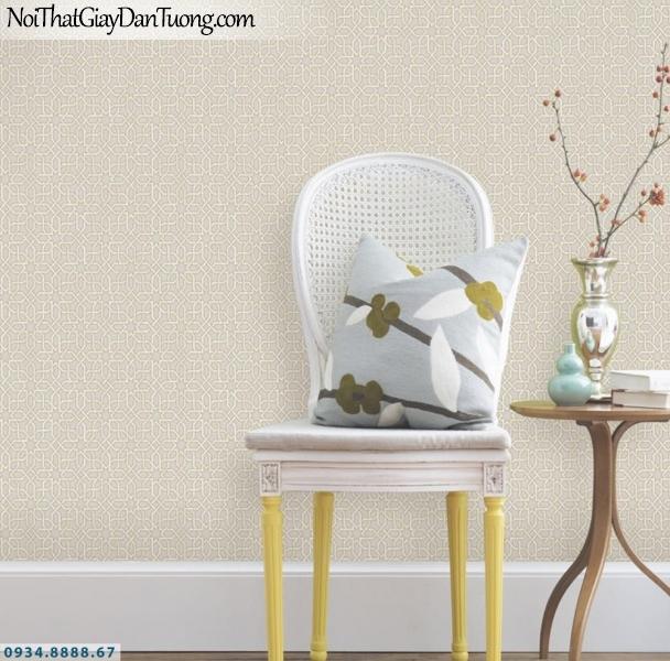GRAVENTO | Giấy dán tường màu xám vàng, những đường kẻ xéo ngang, xéo dọc | Giấy dán tường Gravento TL345571