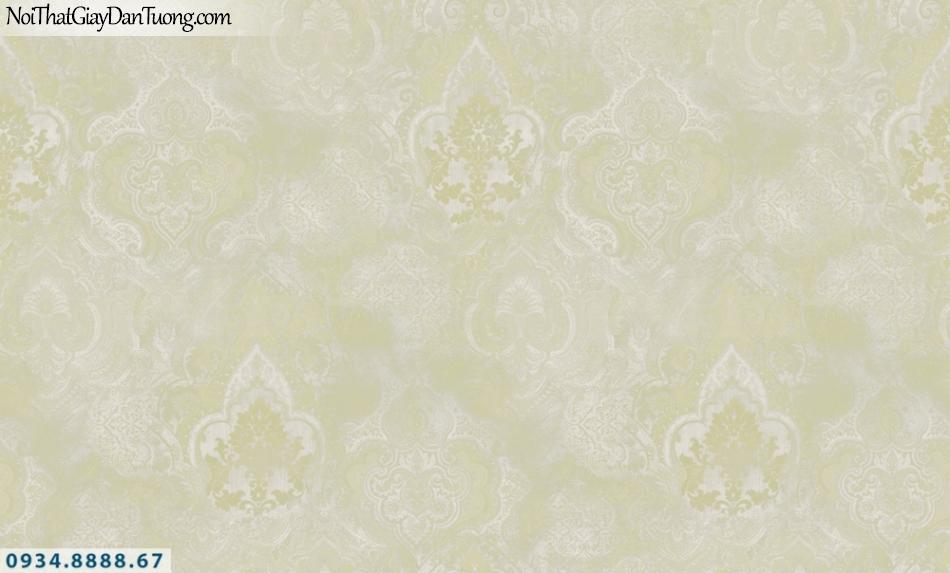GRAVENTO | Giấy dán tường màu xanh chuối, màu vàng chanh, họa tiết cổ điển Châu Âu, phu hợp phòng ngủ và phòng khách | Giấy dán tường Gravento TL345552