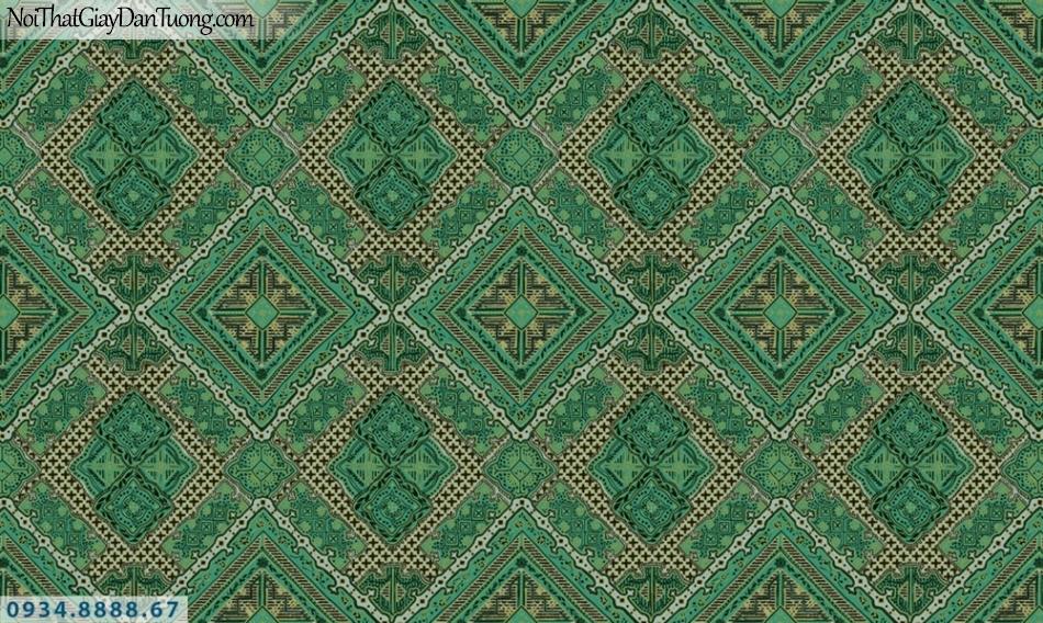 GRAVENTO | Giấy dán tường màu xanh ngọc, xanh lá cây, xanh cốm, họa tiêt hình ô vuông xếp xéo hình ca rô | Giấy dán tường Gravento RA345642