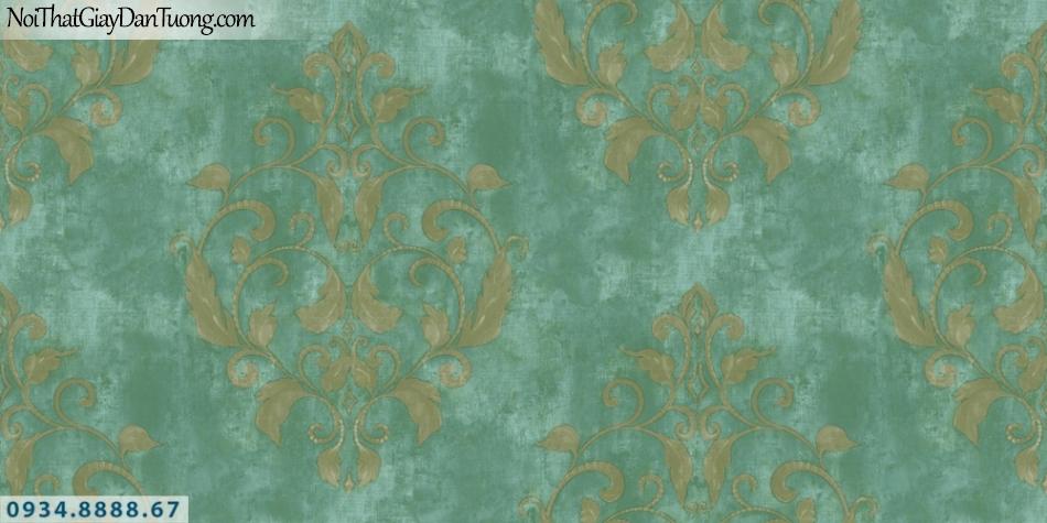 GRAVENTO | Giấy dán tường màu xanh ngọc, xanh lá cây, xanh cốm, xanh rêu, kiểu cổ điển phong cách Châu Âu | Giấy dán tường Gravento PM345855