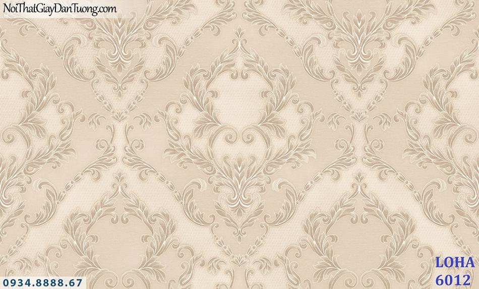 LOHA | Giấy dán tường cổ điển, bông hoa lớn màu vàng kem, phong cách Châu Âu | Giấy dán tường Loha Hàn Quốc 6012