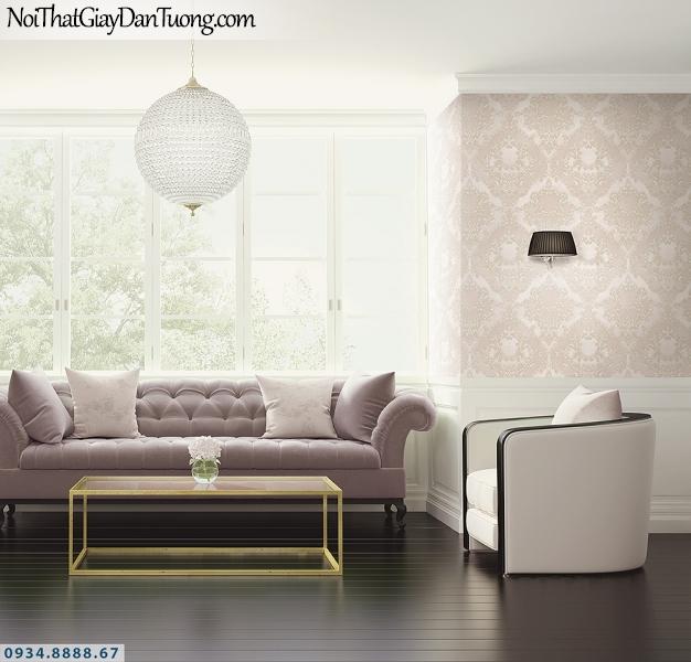 LOHA | Giấy dán tường cổ điển màu hồng, bông lớn | Giấy dán tường Loha Hàn Quốc 6013