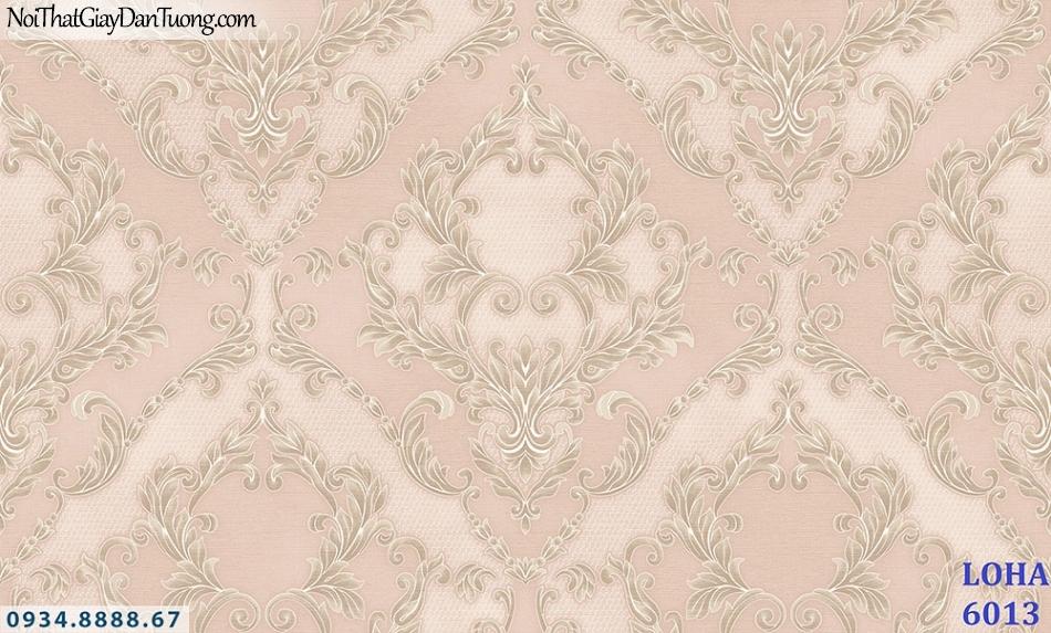 LOHA | Giấy dán tường cổ điển màu hồng, hoa to | Giấy dán tường Loha Hàn Quốc 6013