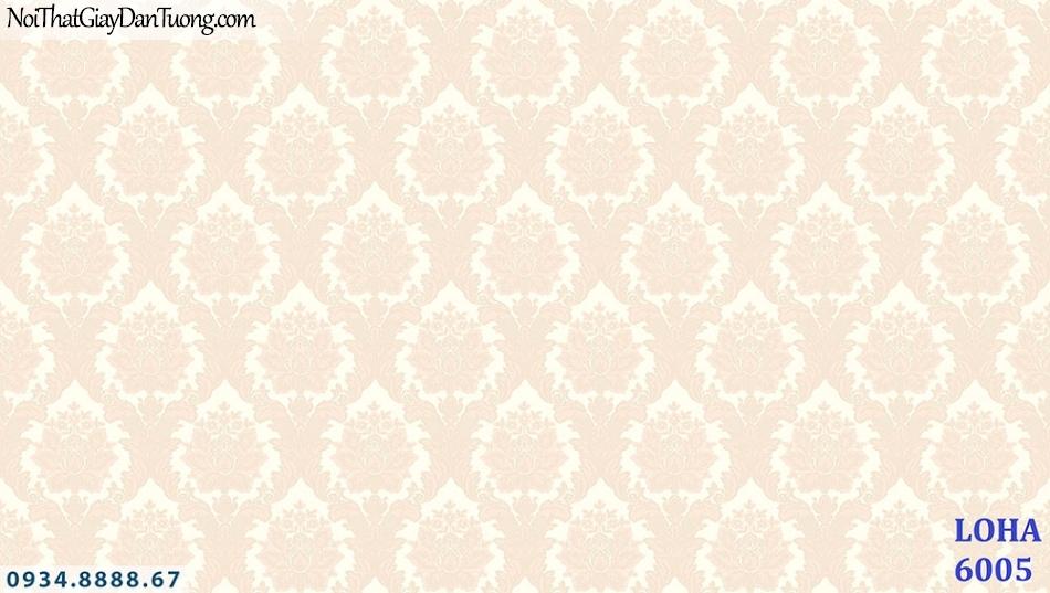 LOHA | Giấy dán tường cổ điển màu vàng cam, màu hồng vàng | Giấy dán tường Loha Hàn Quốc 6005