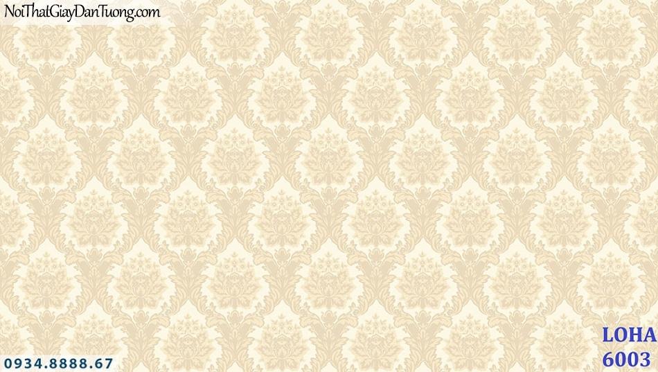LOHA | Giấy dán tường cổ điển màu vàng | Giấy dán tường Loha Hàn Quốc 6003