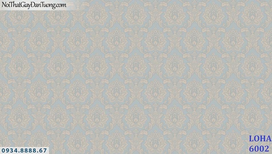 LOHA | Giấy dán tường cổ điển màu xanh dương | Giấy dán tường Loha Hàn Quốc 6002