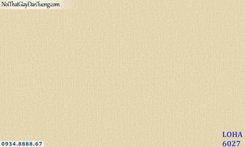 LOHA | Giấy dán tường gân trơn đơn giản màu vàng, giấy gân trơn, gân sần vàng tươi | Giấy dán tường Loha Hàn Quốc 6027