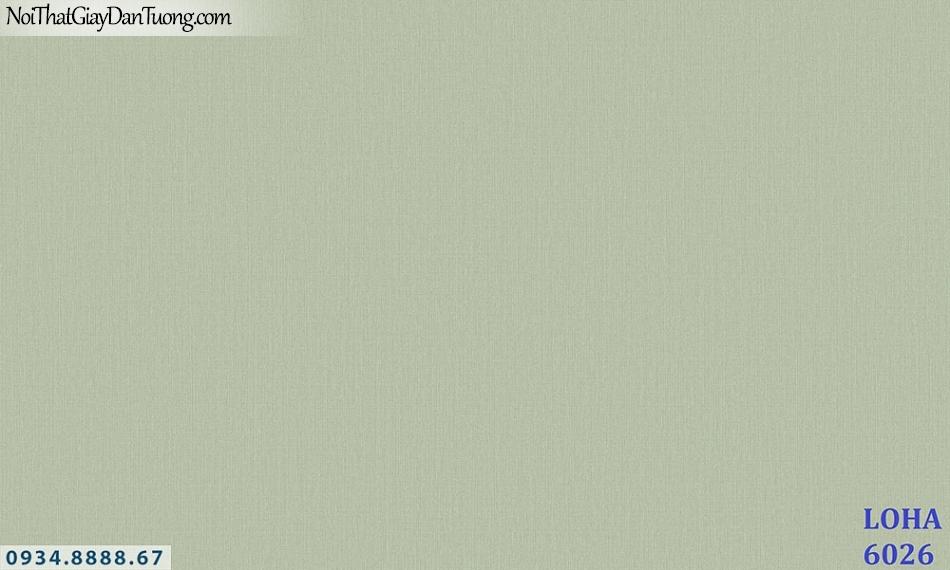 LOHA | Giấy dán tường gân trơn, gân sần một màu đơn sắc, màu xanh ngọc, xanh lá cây | Giấy dán tường Loha Hàn Quốc 6026