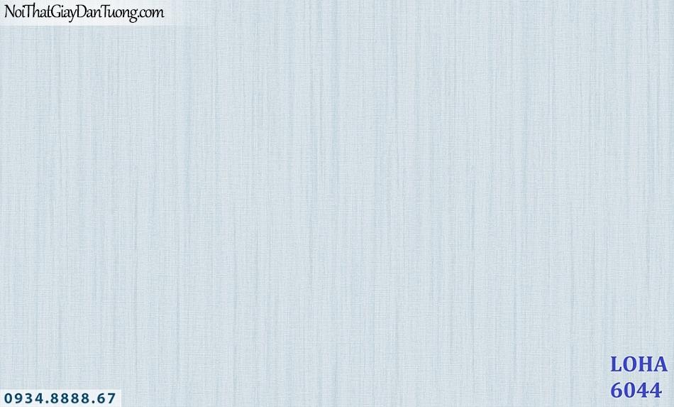 LOHA | Giấy dán tường gân trơn màu xanh lơ, xanh dương nhạt, họa tiết kẻ sọc nhỏ đứt đoạn | Giấy dán tường Hàn Quốc Loha 6044