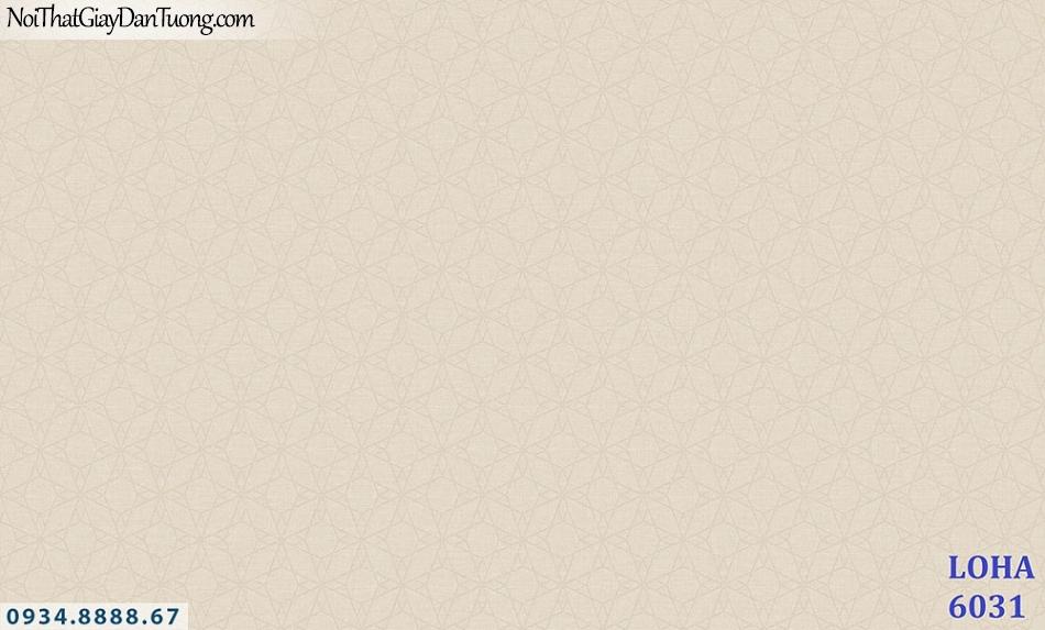 LOHA | Giấy dán tường hoa văn chìm, giấy gân màu vàng cam nhạt, hồng vàng nhạt | Giấy dán tường Hàn Quốc Loha 6031