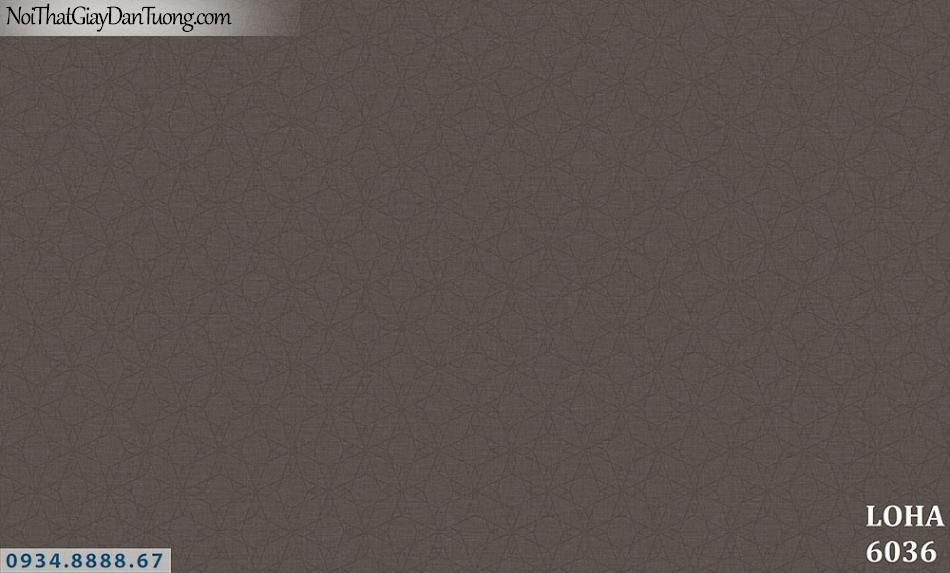 LOHA | Giấy dán tường màu nâu, họa tiết chìm màu nâu sẫm | Giấy dán tường Hàn Quốc Loha 6036