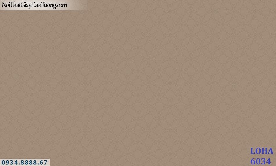 LOHA | Giấy dán tường màu nâu, nâu đỏ, hoa văn chìm | Giấy dán tường Hàn Quốc Loha 6034