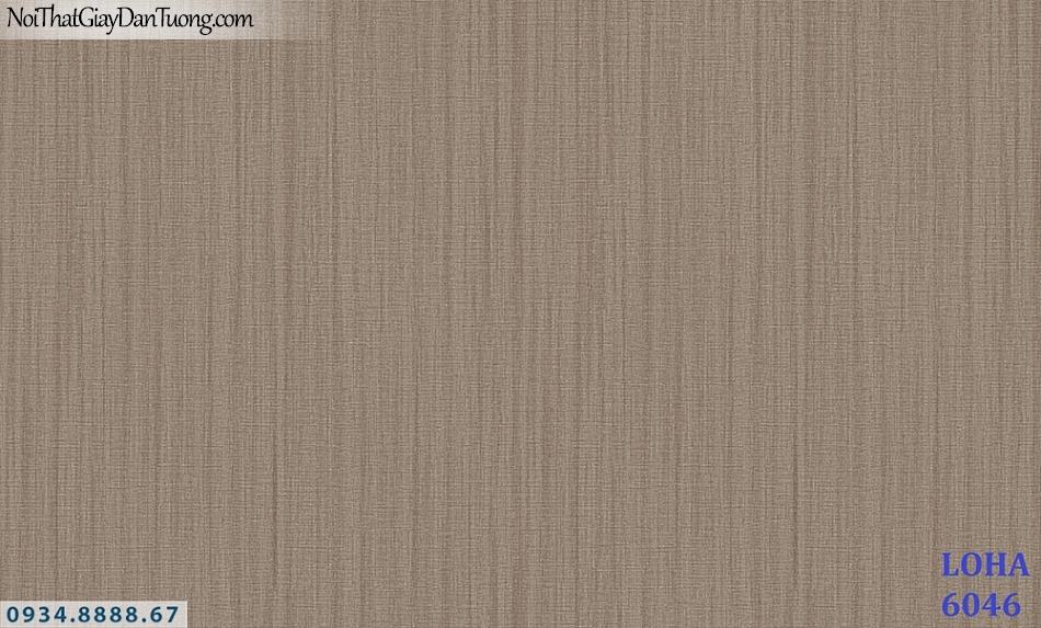 LOHA | Giấy dán tường màu nâu vàng, giấy gân kẻ sọc nhỏ, sọc điểm đứt đoạn | Giấy dán tường Hàn Quốc Loha 6046