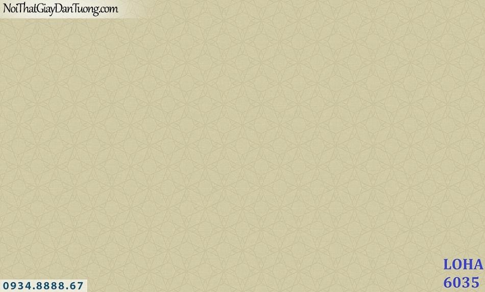 LOHA | Giấy dán tường màu vàng chanh hoa văn chìm | Giấy dán tường Hàn Quốc Loha 6035