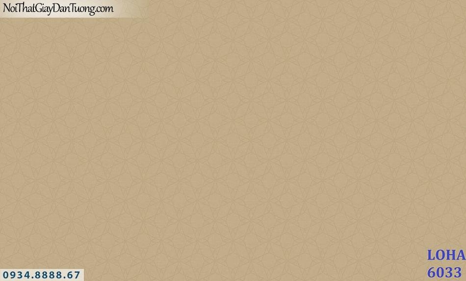 LOHA | Giấy dán tường màu vàng đồng, họa tiết chìm | Giấy dán tường Hàn Quốc Loha 6033
