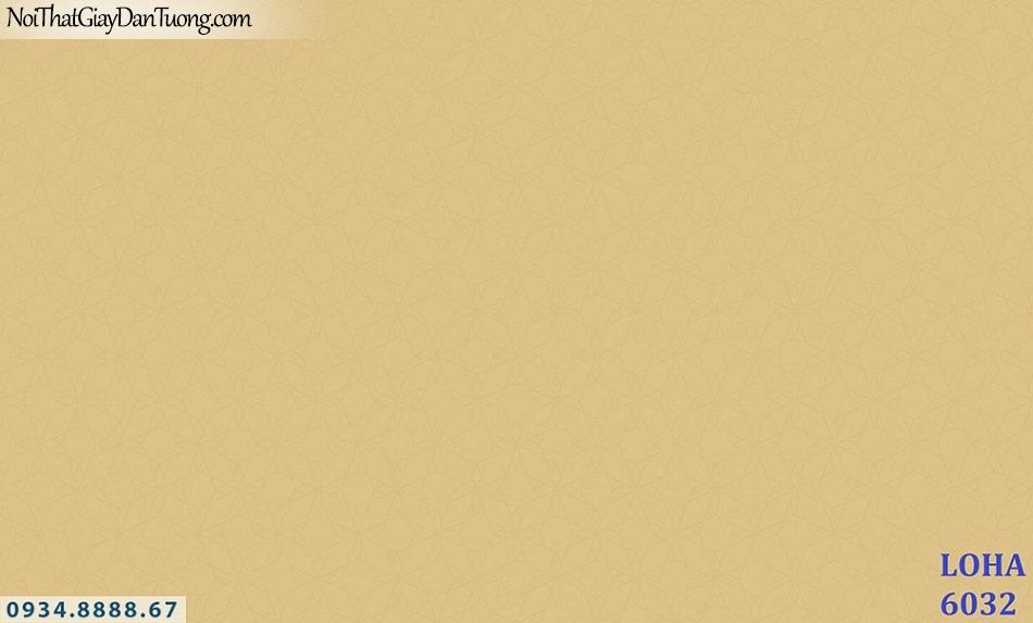LOHA | Giấy dán tường màu vàng, hoa văn chìm màu vàng tươi | Giấy dán tường Hàn Quốc Loha 6032