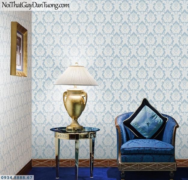 LOHA | Giấy dán tường màu xanh dương cổ điển | Giấy dán tường Loha Hàn Quốc 6002