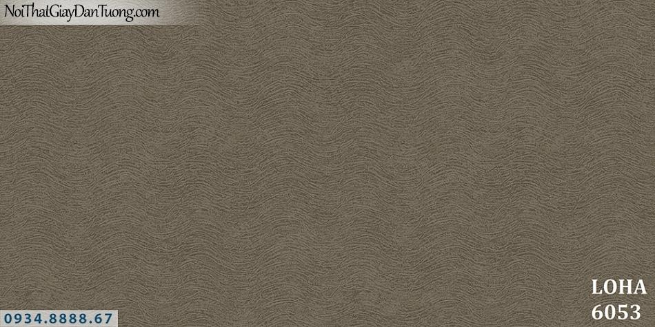 LOHA Hàn Quốc | Giấy dán tường dạng sóng biển màu nâu | Giấy dán tường Loha 6053