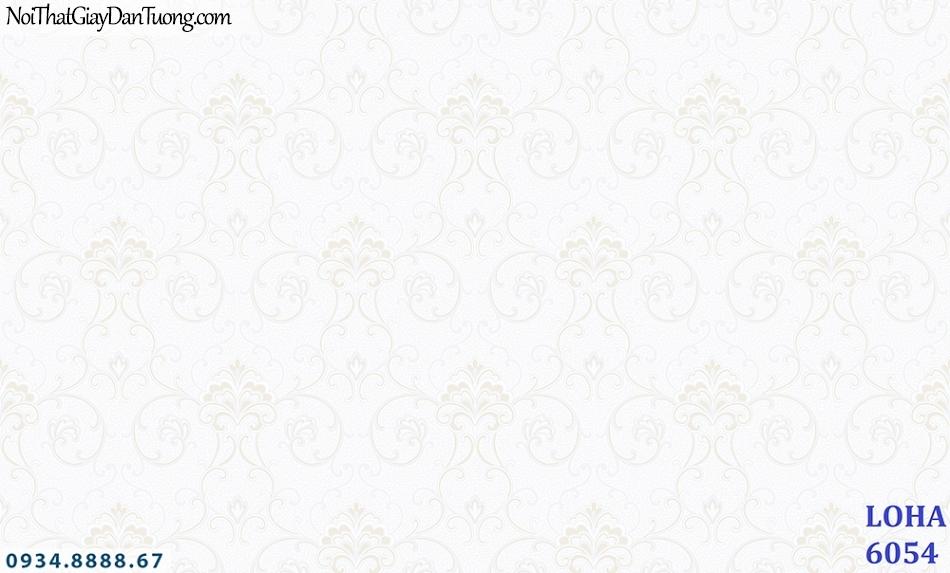 LOHA Hàn Quốc | Giấy dán tường hoa văn nhẹ nhàng màu trắng sáng, họa tiết ẩn màu trắng | Giấy dán tường Loha 6054