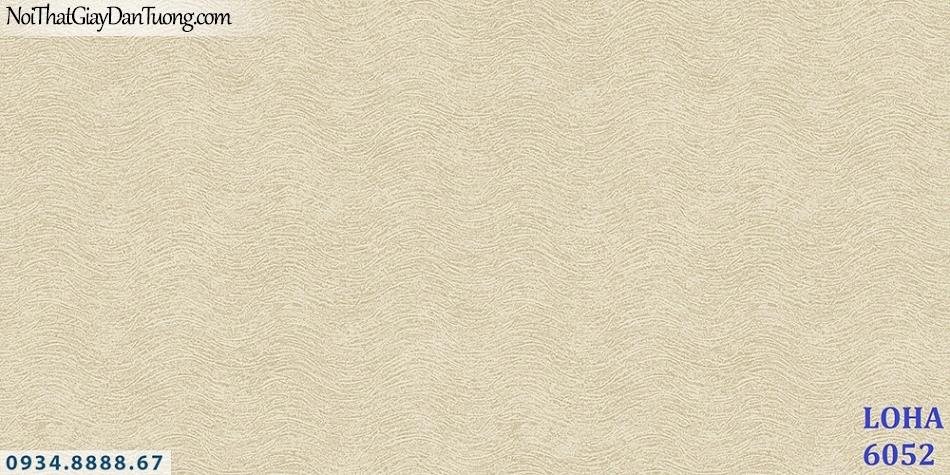 LOHA Hàn Quốc | Giấy dán tường sóng lượn ngang màu vàng, họa tiết sóng biển lượn ngang| Giấy dán tường Loha 6052