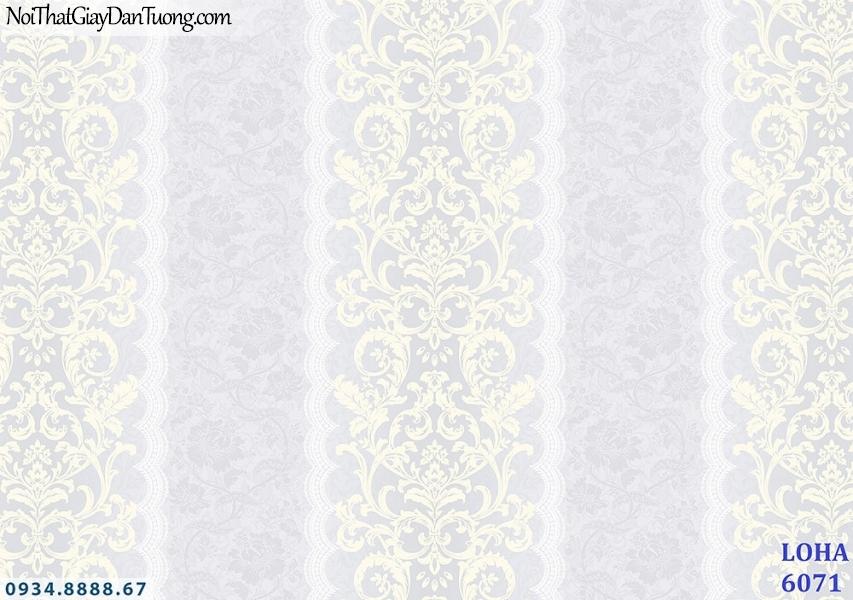 LOHA Hàn Quốc | Giấy dán tường sọc hoa văn màu tím, tím nhạt | Giấy dán tường Loha 2019 - 2020 - 6071