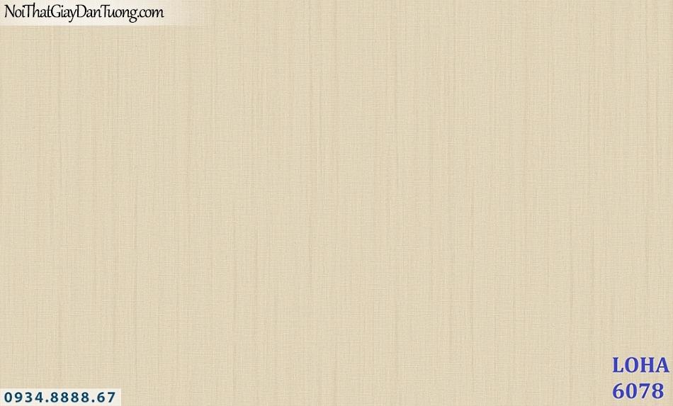 LOHA Hàn Quốc | Giấy dán tường sọc nhuyễn nhỏ, màu vàng | Giấy dán tường Loha 6078 - 2019 - 2020