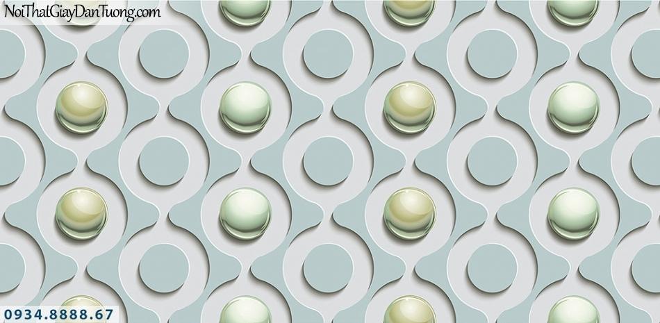 Assemble | Giấy dán tường 3D hình tròn màu xanh lơ | Giấy dán tường Assemble 40114-4