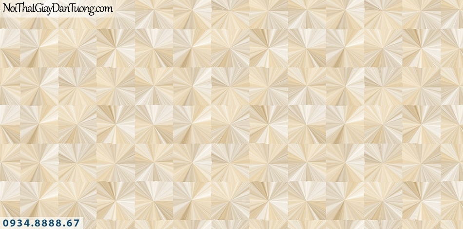 Assemble | Giấy dán tường 3D hình vuông họa tiết chiếu hòa quang màu vàng | Giấy dán tường Assemble 40116-1