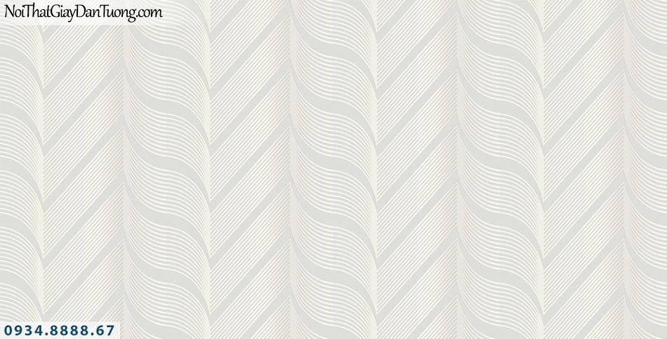 Assemble | Giấy dán tường 3D hình xoắn trụ màu trắng | Giấy dán tường Assemble 40101-1