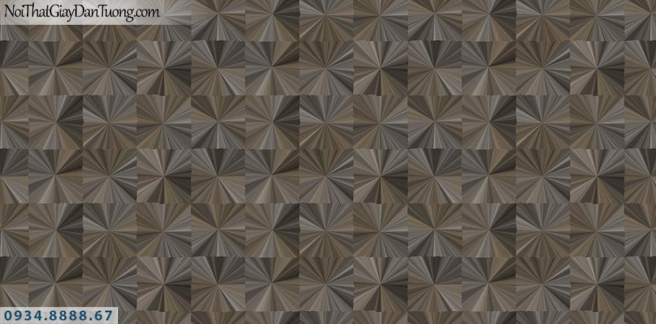 Assemble | Giấy dán tường 3D màu đen, màu nâu đen, vàng đen hình ô vuông | Giấy dán tường Assemble 40116-4