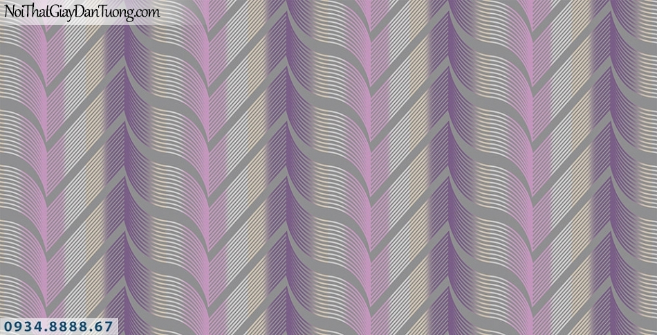 Assemble | Giấy dán tường 3D màu tím | Giấy dán tường Assemble 40101-4
