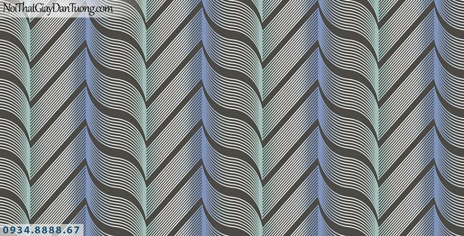 Assemble | Giấy dán tường 3D màu xám ánh xanh chuối | Giấy dán tường Assemble 40101-5